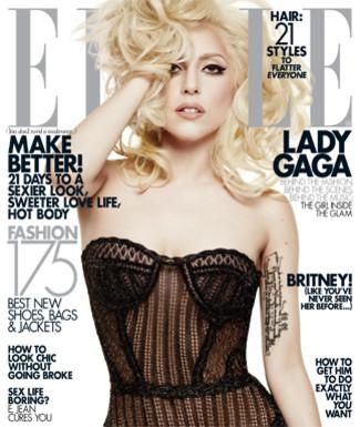 New York City Dec 27, 2009 Elle Magazine GAGA