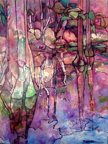 Dec 31, 2009 Jeanette Sherritze Glass Pond III (36x48inches; oil)