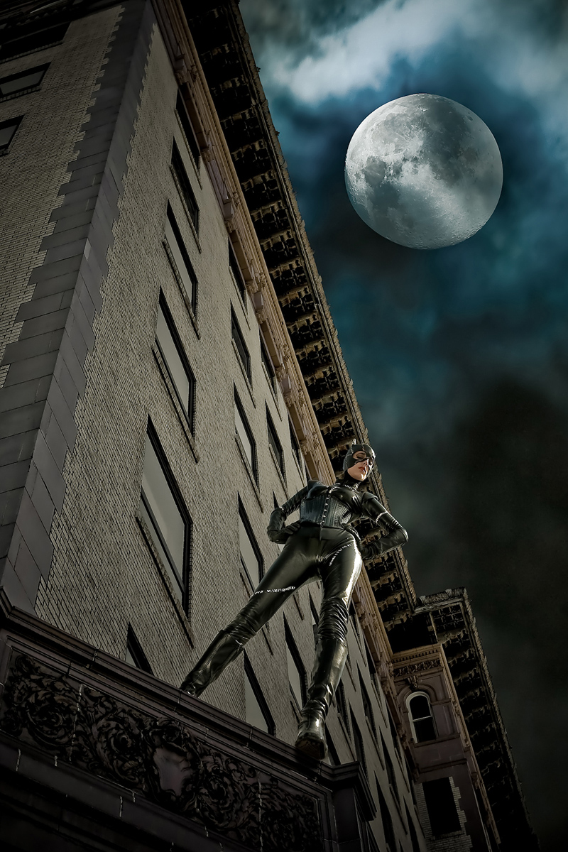 Los Angeles Jan 02, 2010 Zion Publishing © The Creative Mind - Photo edit by Zion Publishing - Four different images (model, building, clouds and moon)... stunningly merged into one amazing image!