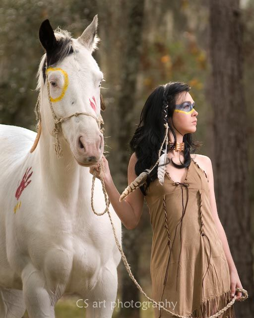 Dunnellon FL Jan 05, 2010 CS Art photo Indian war  maiden : MM Vevay