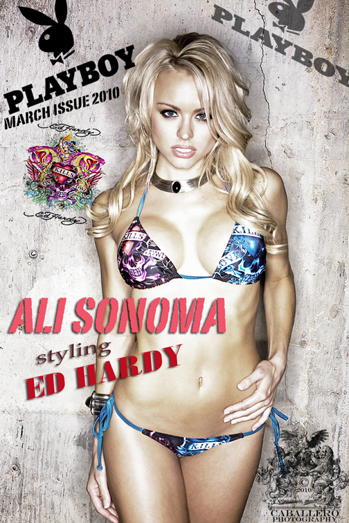 Jan 05, 2010 Derek Caballero Playboy March 2010 - Ali Sonoma styling Ed Hardy