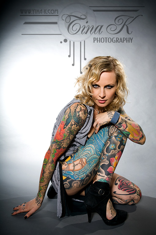 Good Times Tattoo Studio Jan 07, 2010 Tina Korhonen © Nikole Lowe (London Ink), make up by Annelie Bystrom-Turner