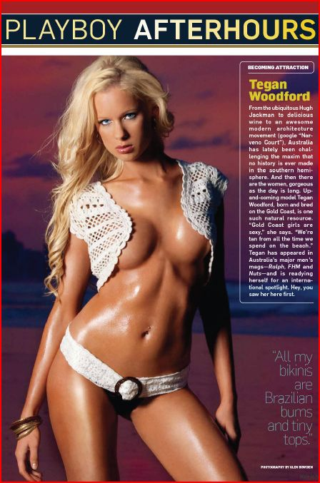Jan 08, 2010 Playboy Tegan Woodford