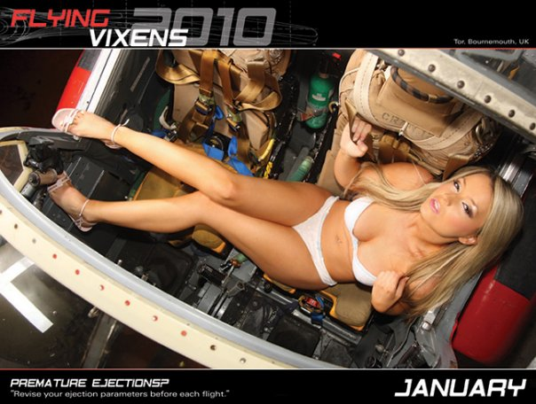 Jan 10, 2010 Aviation girls Flying Vixens Calendar 2010 - January
