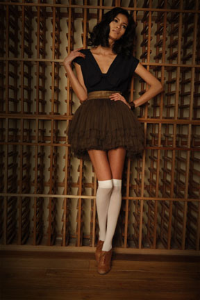 Female model photo shoot of Allison Parris in Cipriani Wall Street Wine Cellar