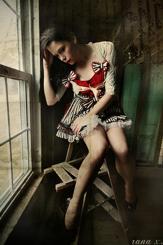 Female model photo shoot of Eleanor Black by Rana X. in Orphanage