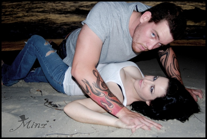 Male and Female model photo shoot of Goyder and Wild Kat