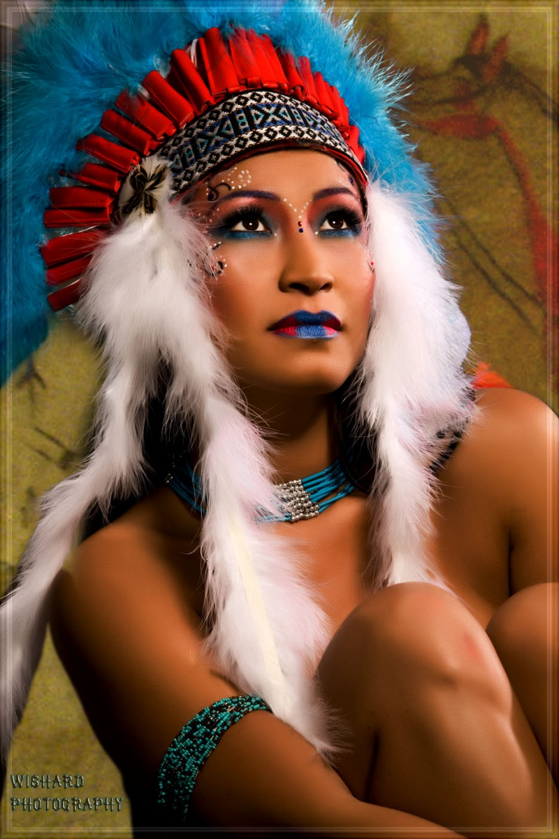 Wishard Studio Jan 21, 2010 Nancy Wishard--Makeup by Naiyana, Hair by Amanda Witherspoon Native American Princess