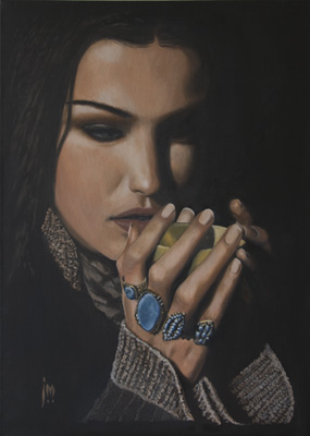 England Jan 25, 2010 John D Moulton Shiraz Oil on Canvas