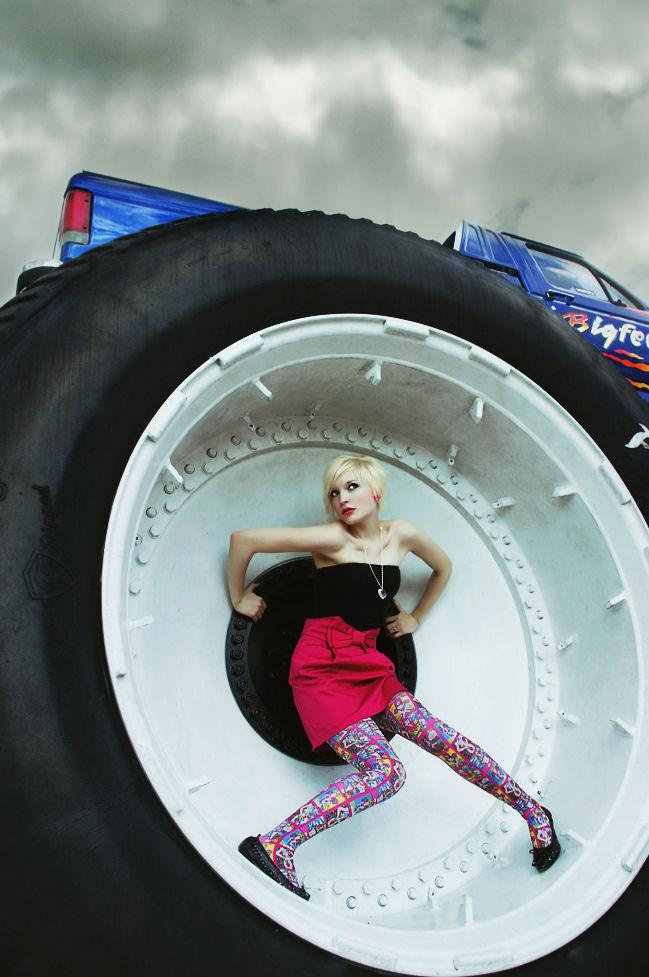 Kissimmee, FL. Jan 25, 2010 Doll in a Tire.