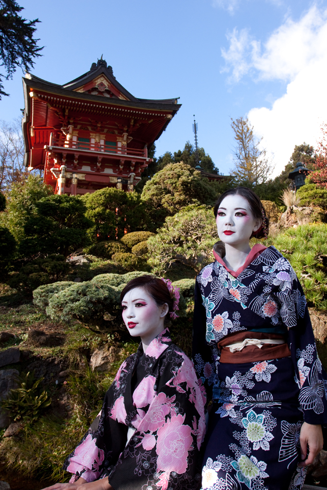 Female model photo shoot of Keke Vasquez, Gone with the Wind and J U L I A  by Neilnorman Photo in San Francisco Japanese Tea Garden, makeup by Keke Vasquez