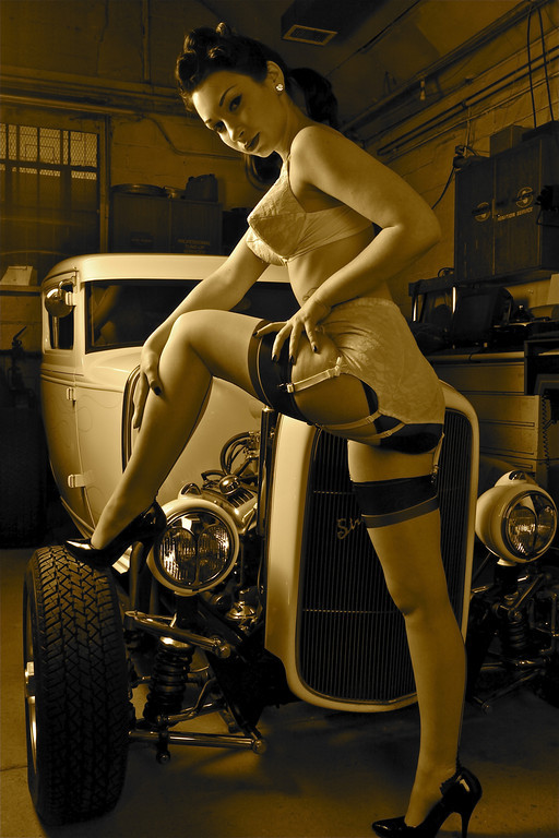 Hot Legs & Hot Rods Garage Shoot Jan 28, 2010 Mike55 © Hot Legs & Hot Rods