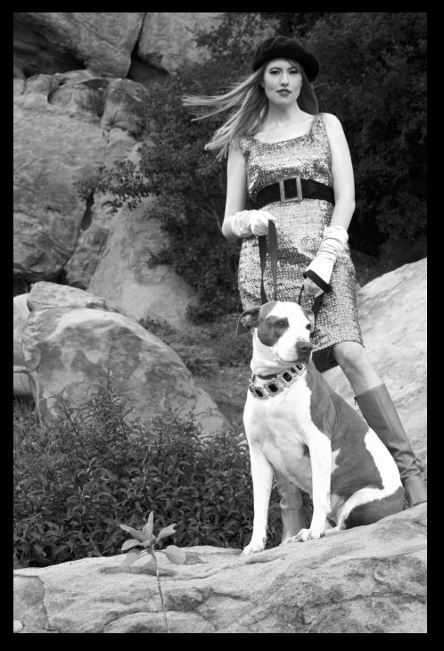 Female model photo shoot of Brandy McDaniels by J C ModeFotografie in West Hills, Ca, wardrobe styled by Rana X, makeup by Makeup By Zuri