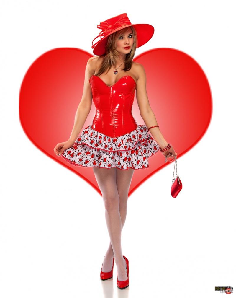 Roberts studio Feb 05, 2010 Robert Fousch Hearts Ruffle Skirt