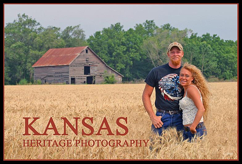 Wakarusa River Valley / Shawnee County, Kansas Feb 06, 2010 KANSAS HERITAGE PHOTOGRAPHY Kansas Farm Couple