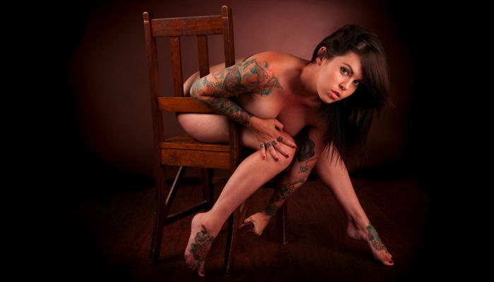 Brisbane, Australia Feb 08, 2010 Nick McAlinden nude and tattooed exhibition shoot