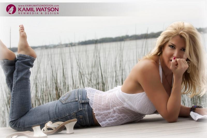 Lake Tarpon, FL Feb 09, 2010 Kamil Watson laying on dock