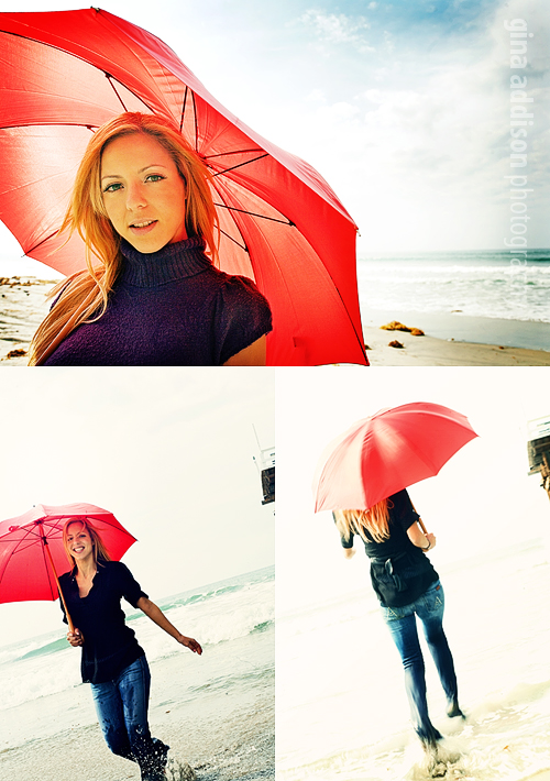 Pacific Beach Feb 09, 2010 2010 Gina Addison Photography The Red Umbrella