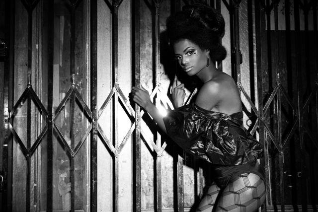 Female model photo shoot of DanielleElizabeth by M Rez, clothing designed by CHANNEL KARAMA BRANDS