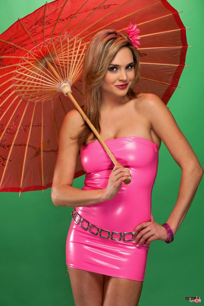 Roberts studio Feb 15, 2010 Robert Fousch Pink PVC Mini Dress