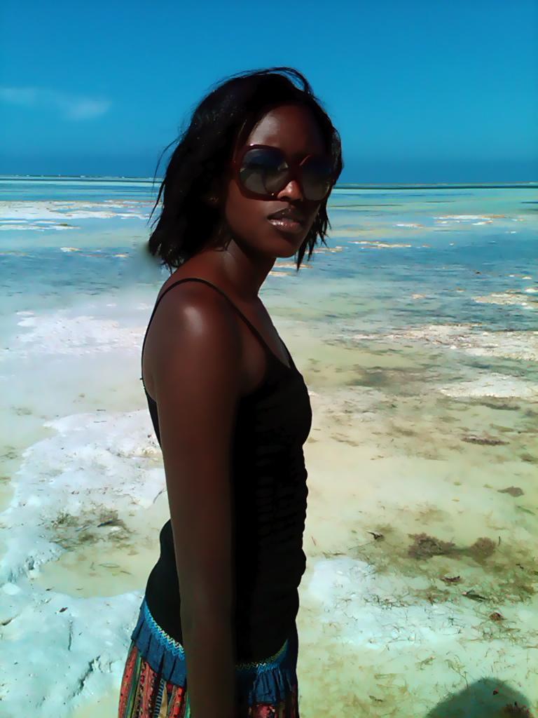 Female model photo shoot of CIRU Maina in zanzibar
