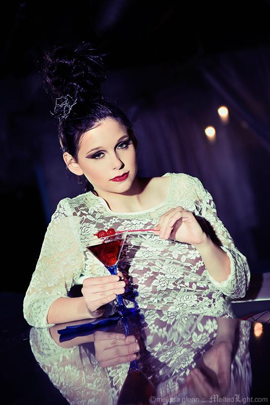 Female model photo shoot of Eleanor Black by Melissa Glenn, makeup by Danielle M Wilson