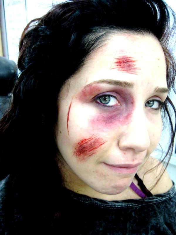 Feb 17, 2010 (c) ArianaMakeup black eye, scrape, cuts