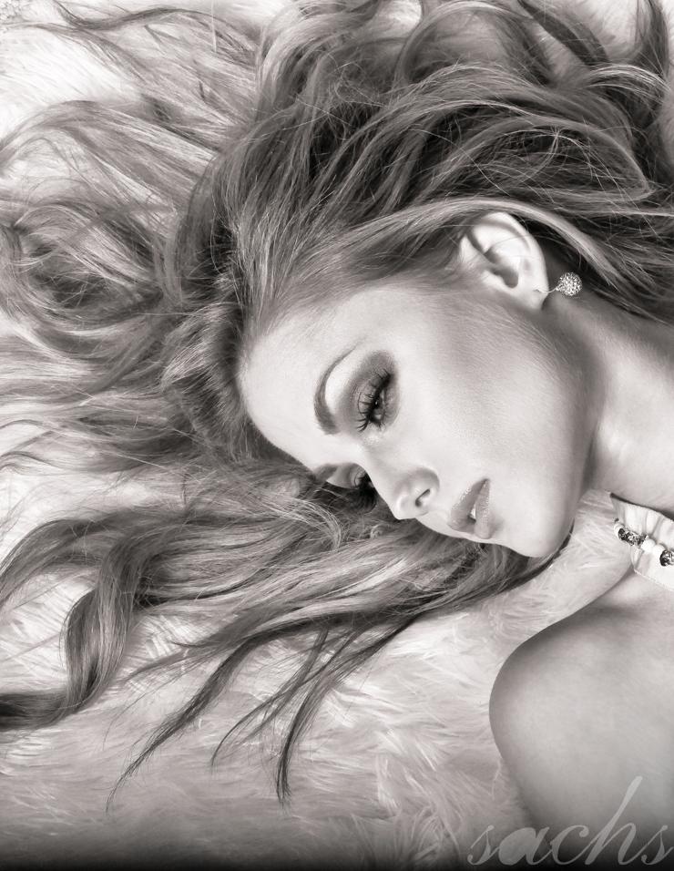 Female model photo shoot of vsachs, makeup by Joli de Jackie