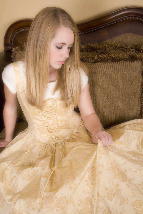 Duchesne, UT Feb 18, 2010 Poulsons Photography Gold Dress