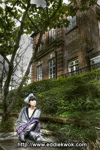 Male and Female model photo shoot of Eddie Kwok Photography and Jet Lag in Hong Kong, makeup by Ivy Law