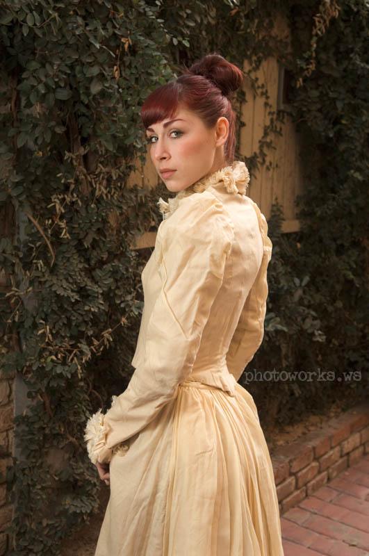 Riverside, CA Feb 24, 2010 Curt Burgess REAL antique victorian dress