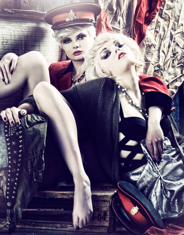 Photographer: Jay Mawson. Styling: Hollie Race. MUA: Ashley Tyrrell & Carla Dyson. Models: Myself & Kat Stuart. Hair: Carla Dyson. Feb 24, 2010 Jay Mawson GOD SAVE MCQUEEN.