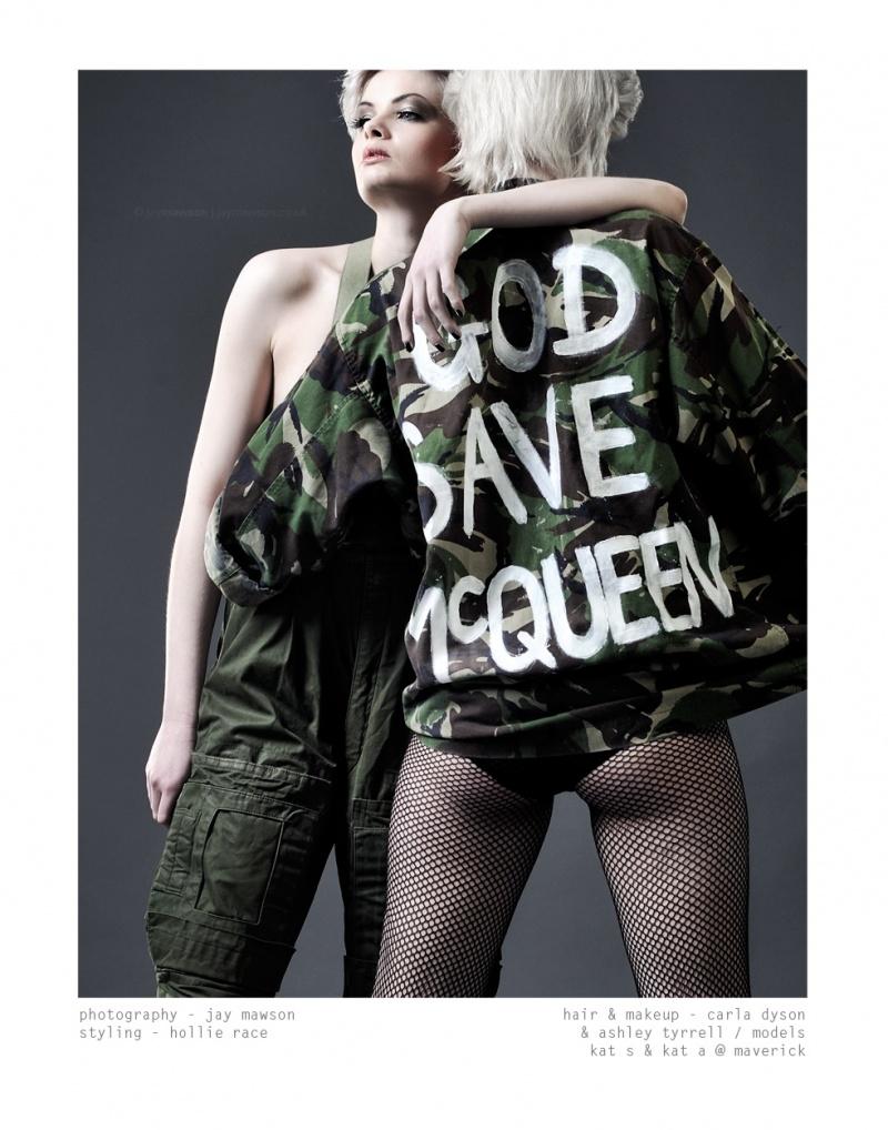 Photographer: Jay Mawson. Styling: Hollie Race. MUA: Ashley Tyrrell & Carla Dyson. Models: Myself & Kat Stuart. Hair: Carla Dyson. Feb 25, 2010 Jay Mawson GOD SAVE MCQUEEN.