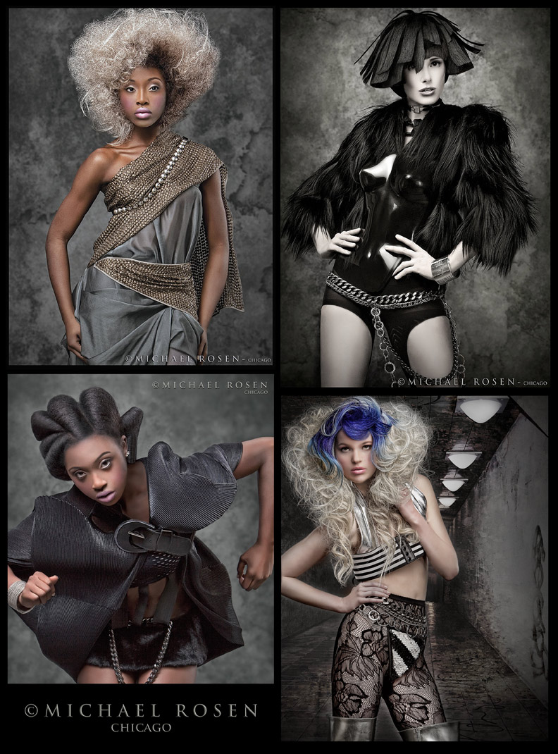 Minneapolis - Hair: Faatemah Ampey www.faatemah.com -Art Direction: Kimberly Steward MM #32943 - Wardrobe Styling: http://www.2lamode.com/  -Sarah Leistico (Arquette and Associates) - : Wesley (Vision Model Management) - Airbrush Foundation by Afro   Feb 25, 2010 Michael Rosen - Chicago Faatemah Hair shoot