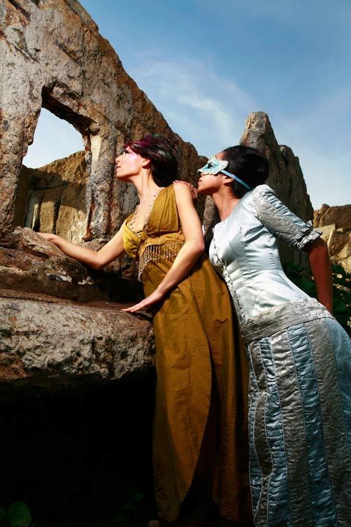 Female model photo shoot of Silvia Noelia  and Amber Zuckswert, makeup by Ane Nisa