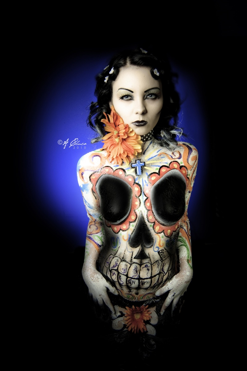 Houston, TX Mar 01, 2010 Concept, Bodypaint, & photgraphy by ©A. Chuca / Styling, Make-Up, & Hair by Sabrina Sin Dia de SIn PhotoLustration