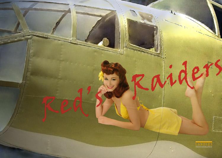 in-studio Mar 01, 2010 2010 Landers Photography B-25 Bomber - nose art