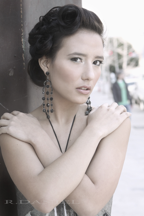 Female model photo shoot of Kris Bholanath and keylingfernandez by R.DANIEL in DT LA, makeup by Ariana Makeup