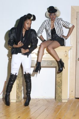 Female model photo shoot of THE SWANK REPORT MAG