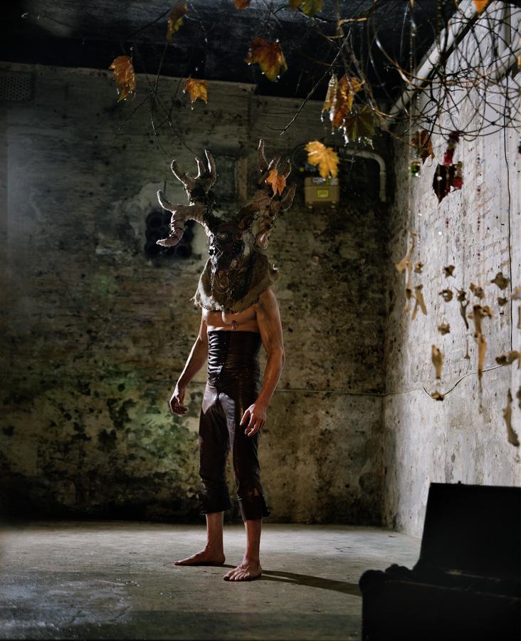 The Old Abattoir Mar 06, 2010 Yiannis Katsaris Stag Mask... Model - Dave Barnett