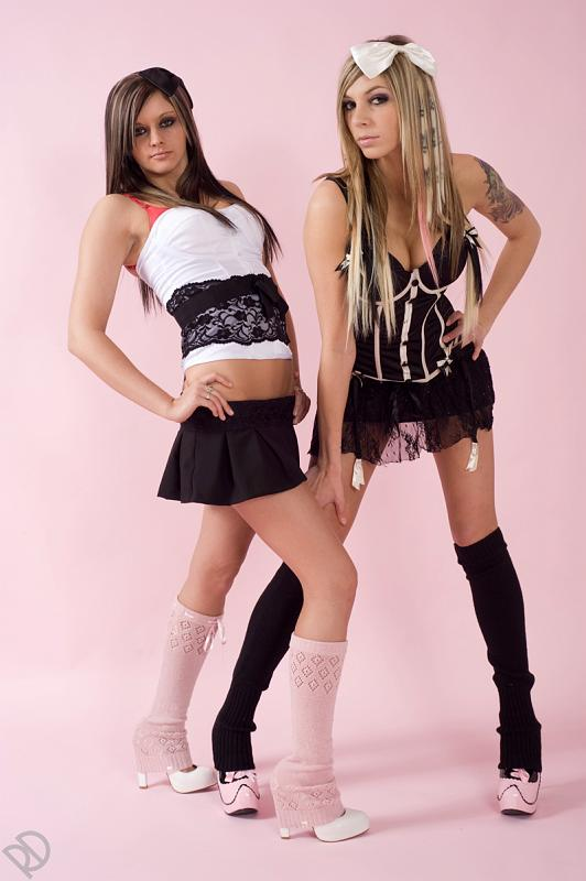 Female model photo shoot of Meagan Linn and Miss Ashlee Dollface