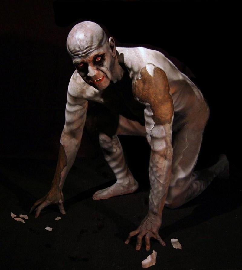 Male model photo shoot of Florida Nando by Greg Chamberlain, body painted by Qs ART WRX