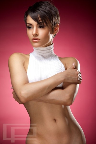 Female model photo shoot of Sally Ferreira  in studio new jersery