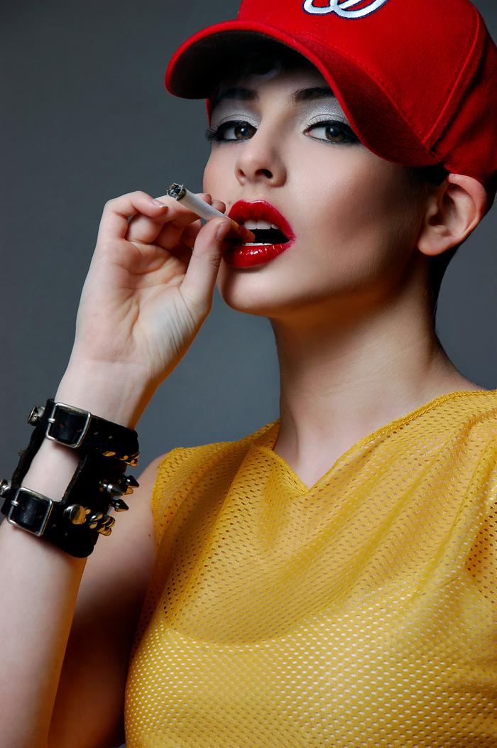 Female model photo shoot of Kelly Alaine by Tony Veloz, makeup by Shaune Hayes