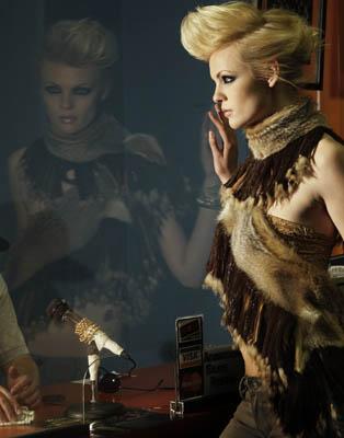 Female model photo shoot of Chesley Carele Stylist in Skate World, San Diego