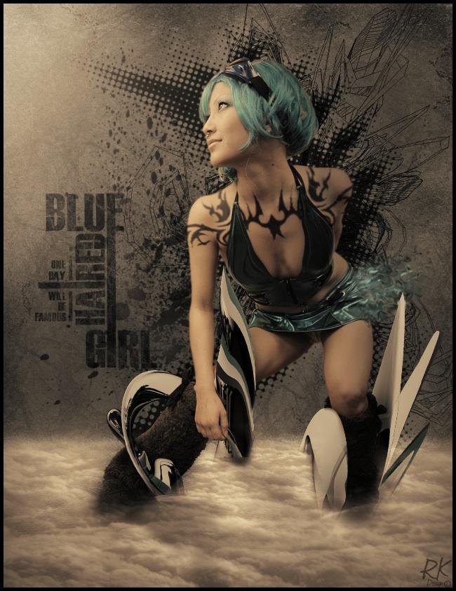 Editing - Roukin21 - http://roukin21.deviantart.com Apr 07, 2010 Photo-Drew Hoshkiw  |  Styling+Model - Myself Blue.Electro