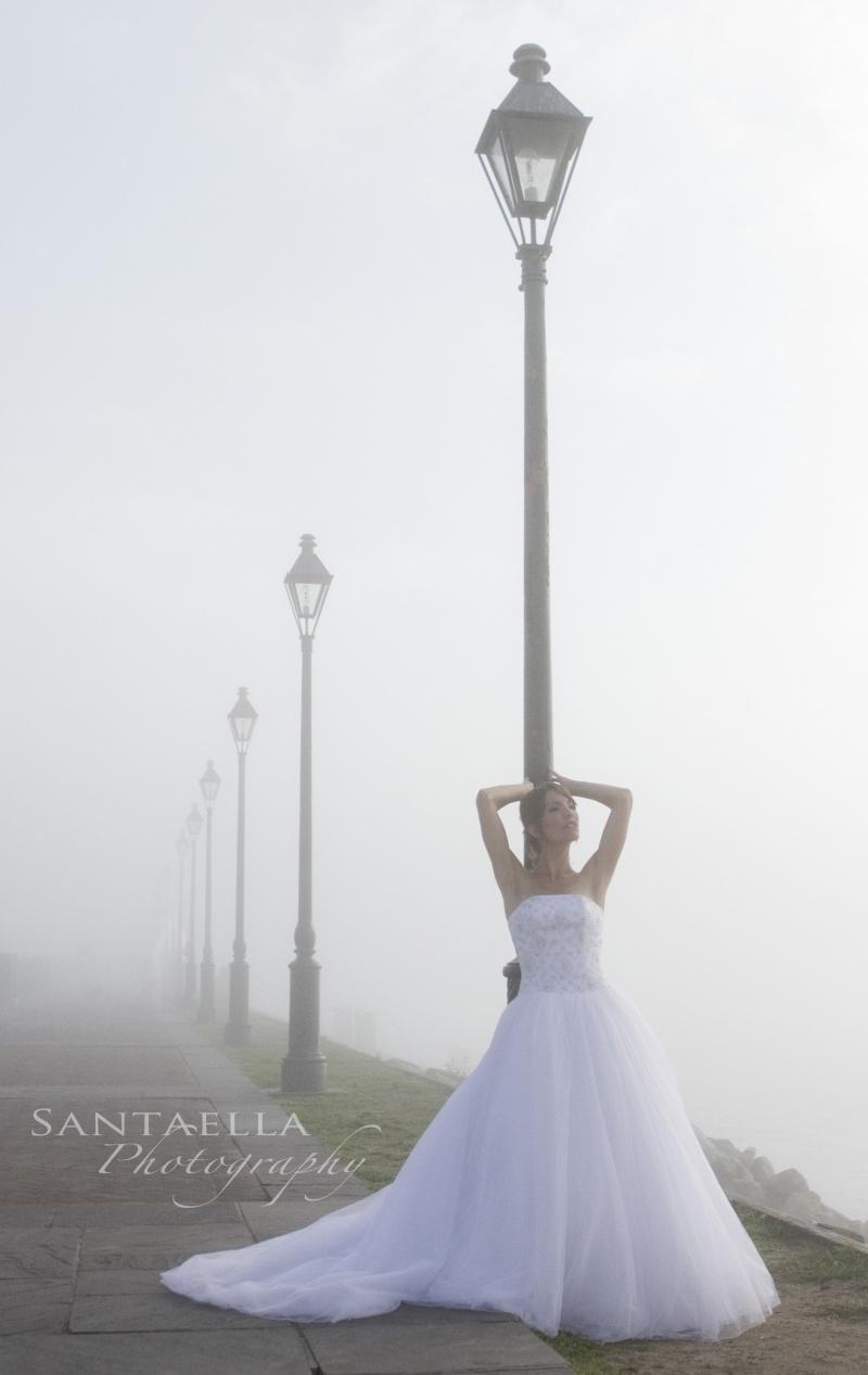 New Orleans Apr 09, 2010 2010 Santaella Photography Bride In Fog