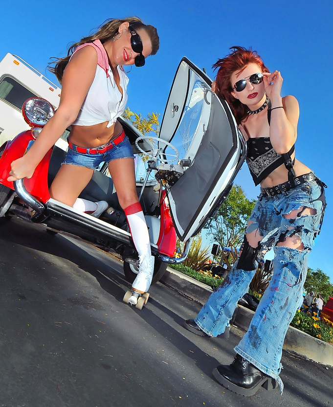 SoCal Apr 10, 2010 SM Shodire cracks open the 1958 BMW 300 egg and what does she find?... Jennifer rollerskating around inside!!!... OMG!... like totally fur sure... she just got a manicure... the sun... I swear... is totally bleaching out her hair!