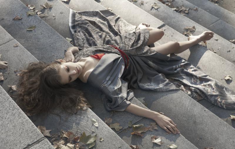 New York Apr 10, 2010 Fashion Stylist Hiromi Asai, Photographer Kinya Kimono fusion fashion