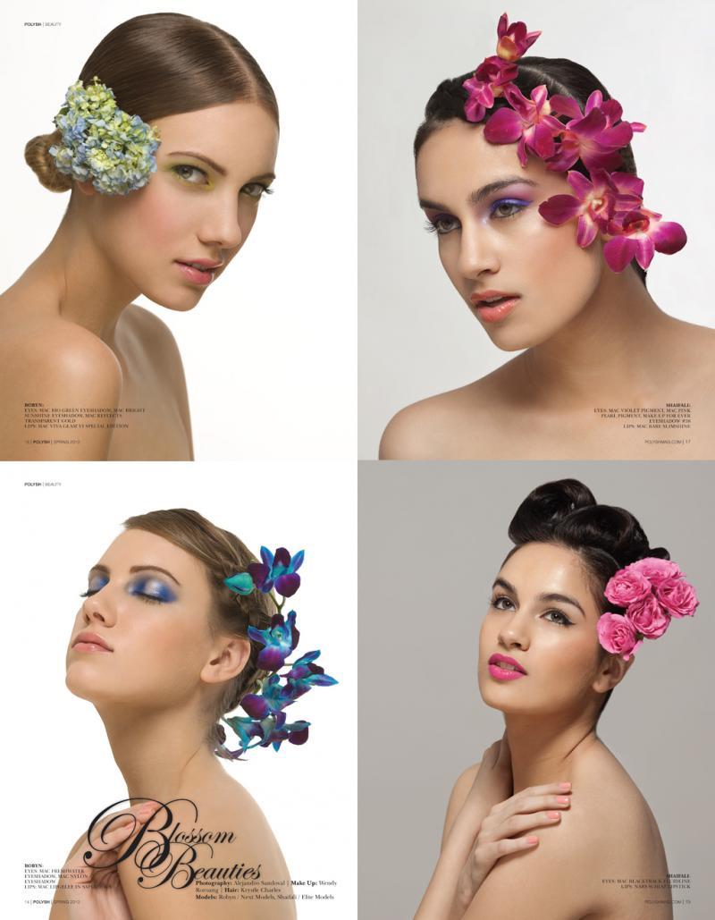 Toronto, Ontario Apr 12, 2010 Alejandro Sandoval Polysh magazine Vol. 2 Issue 2 - beauty Spread -